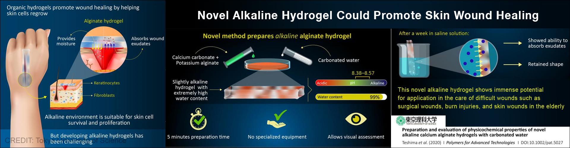 Natural Alkaline Hydrogel Helps Promote Wound Healing