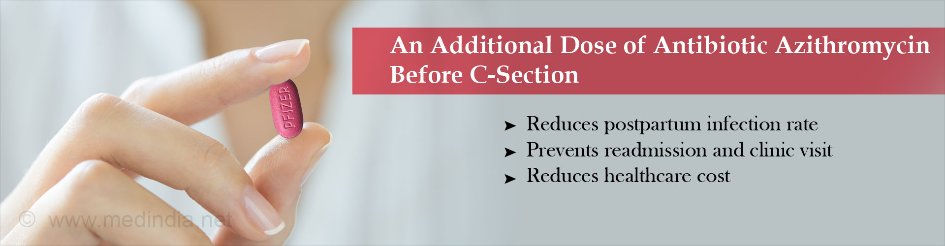 Antibiotic Azithromycin Reduces C-section Infection by Half