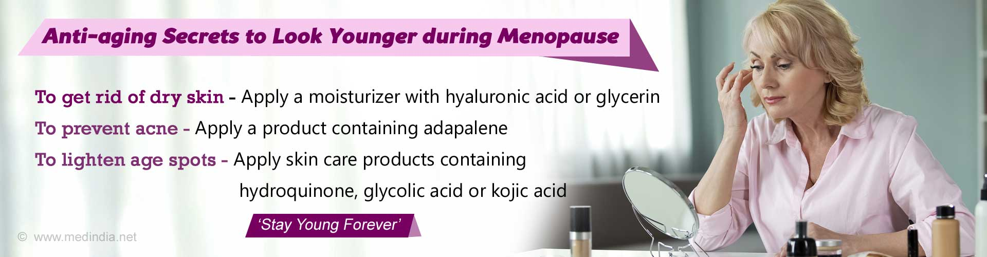Simple Beauty Tips to Keep Your Skin Young during Menopause