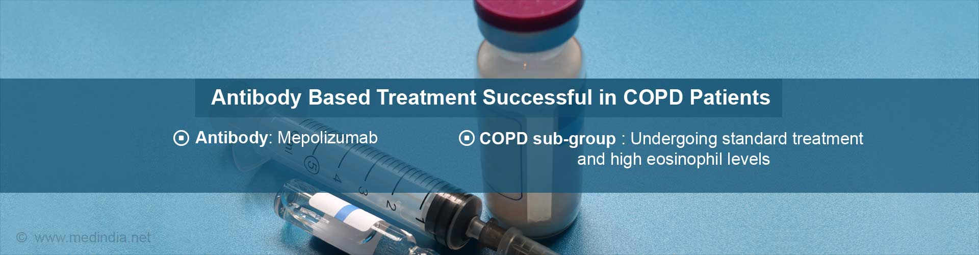 Mepolizumab Antibody Therapy to Help Treatment of Resistant COPD Patients