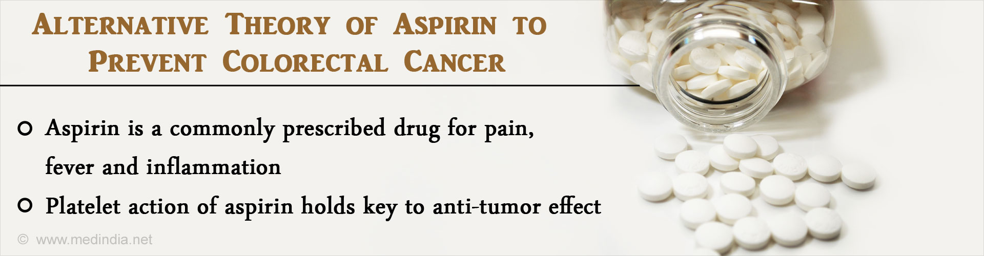 Platelet Action of Aspirin Can be a Key to Prevent Cancer