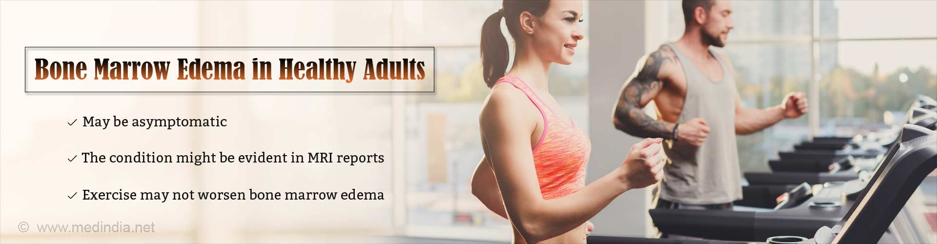 Bone Marrow Edema does not get worse due to Exercise
