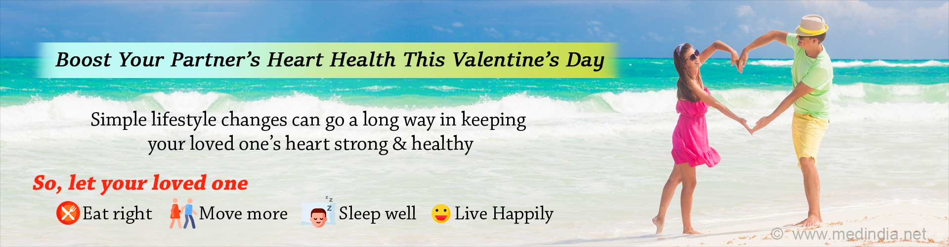 Valentine's Day: Opt for Healthy Lifestyle Habits to Boost Your Partner's Heart Health