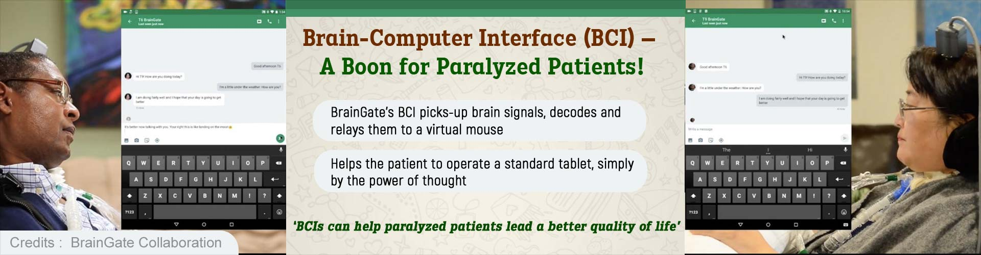 Paralyzed People Can Communicate Again With Brain-computer Interface
