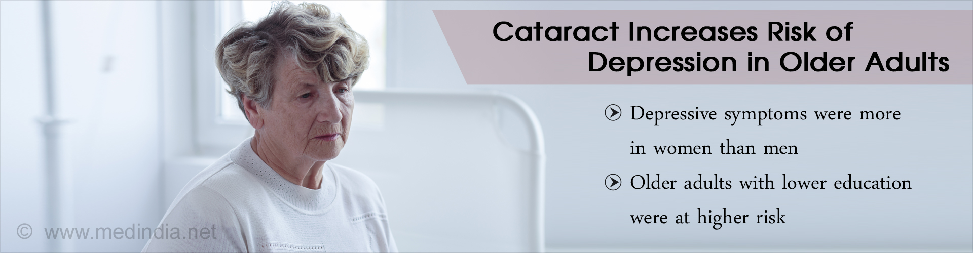 Cataract Increases Depression Risk in Older Adults