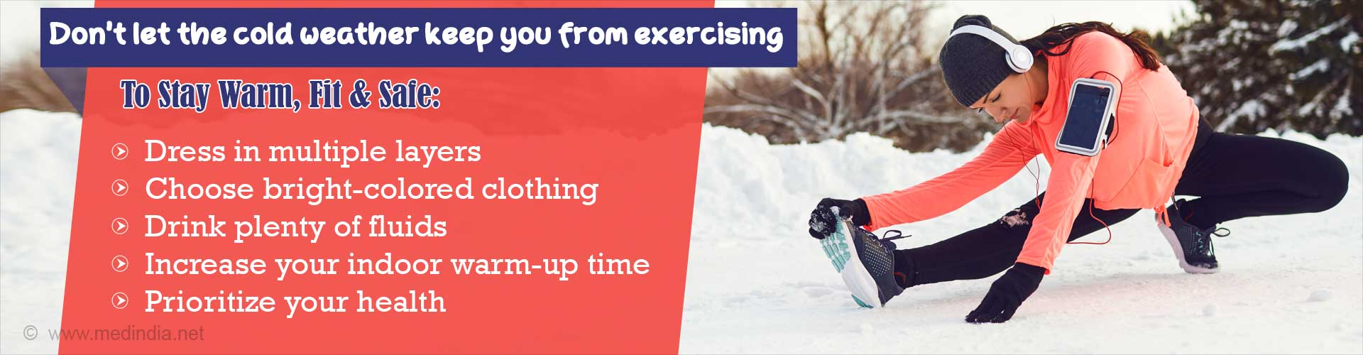 Perfect 5 Tips to Make Running in Cold Weather Safe and Healthy