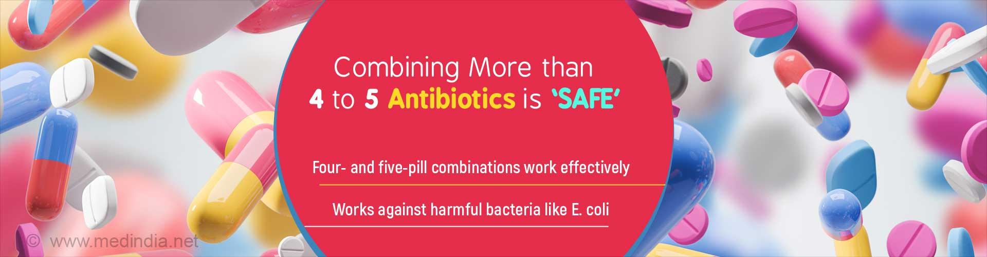 Combining 4 to 5 Antibiotics can Help Kill Harmful Bacteria