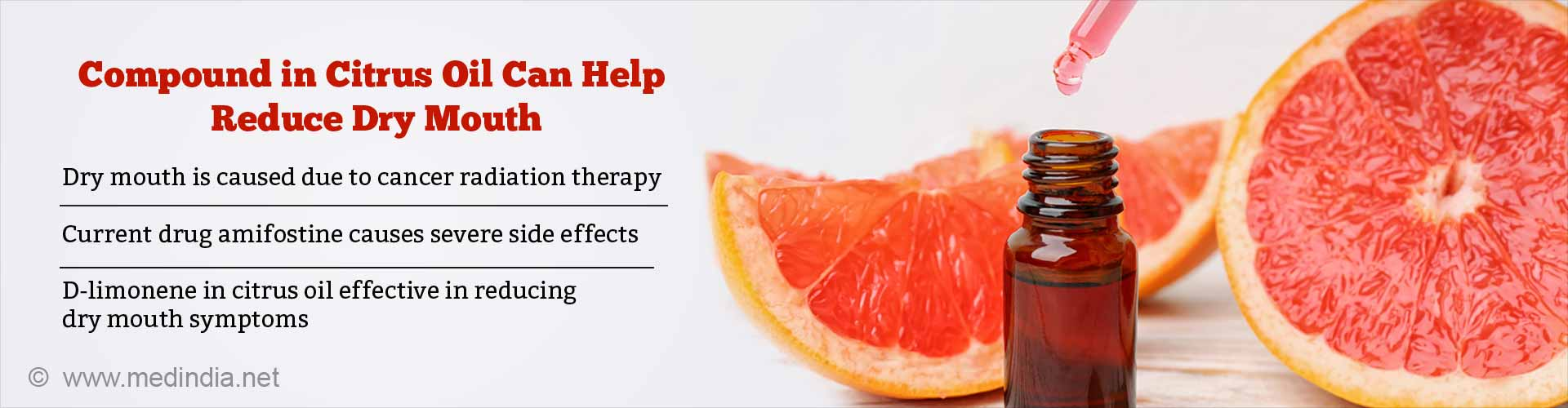 D-limonene Found in Citrus Oil Could Reduce Dry Mouth in Cancer Patients