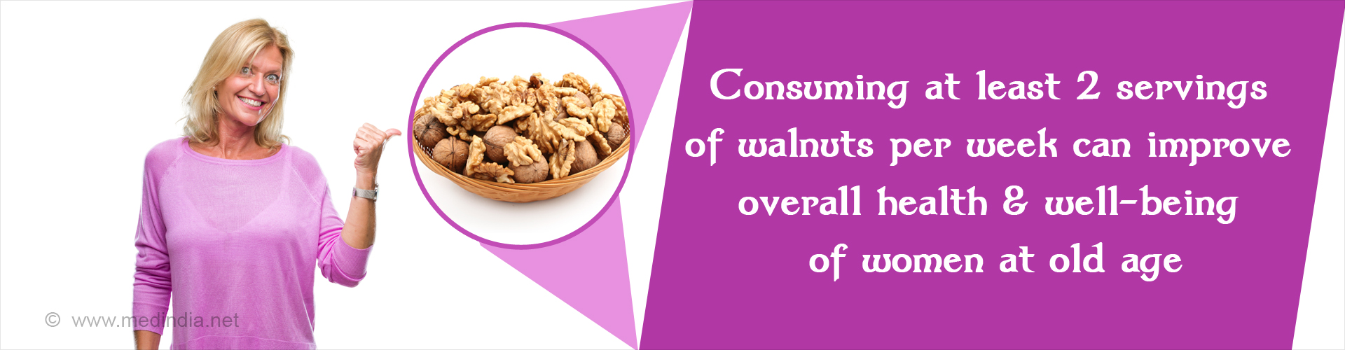 Walnuts can Improve Health and Longevity in Women