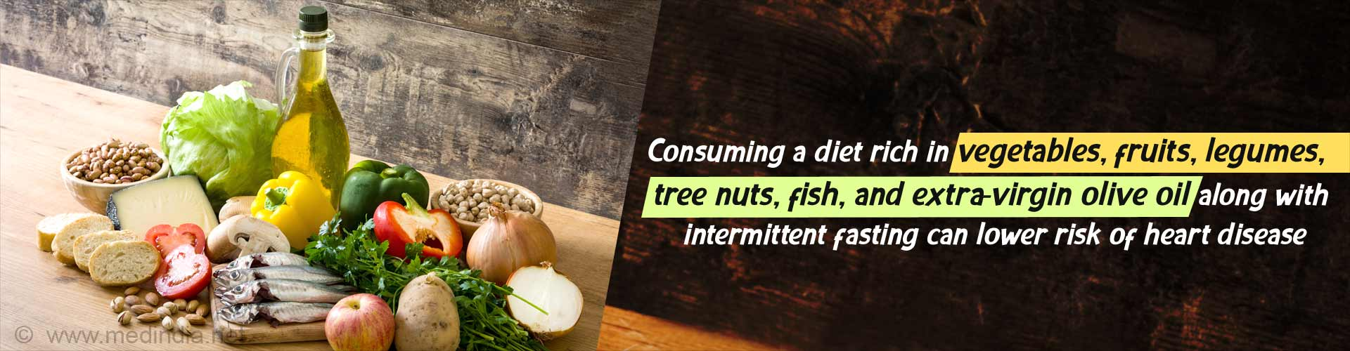 Pesco-Mediterranean Diet Reduces Heart Disease Risk