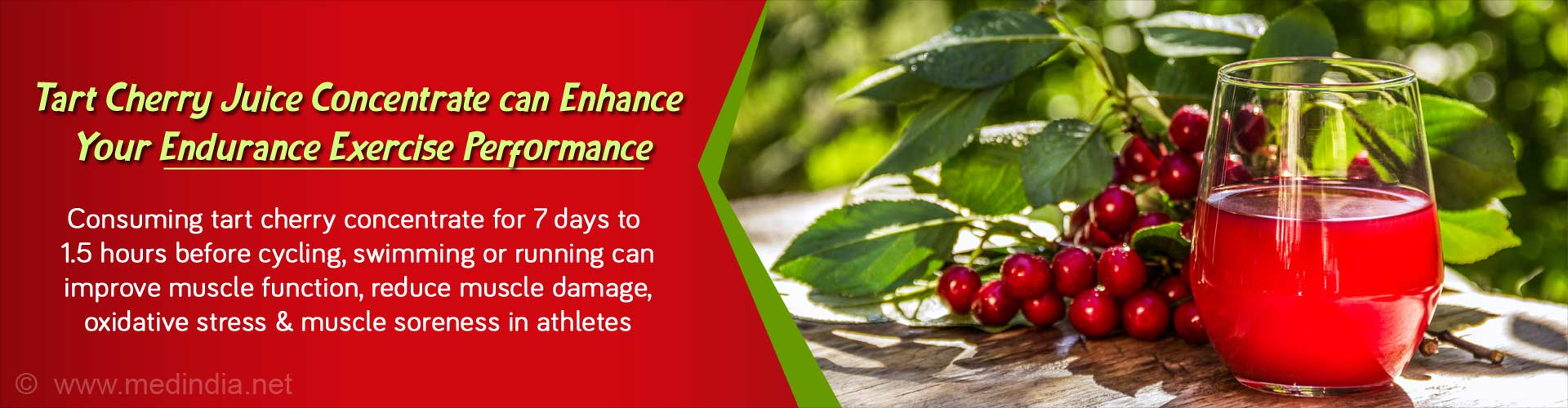 Tart Cherry Juice Concentrate can Boost Your Endurance Exercise Performance