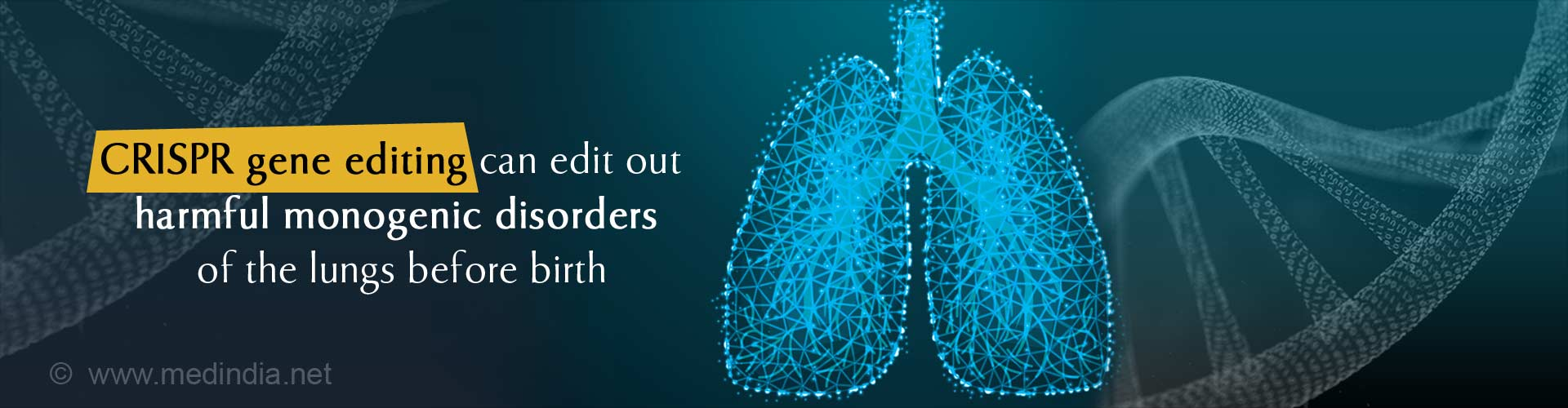 CRISPR Gene Editing can Treat Deadly Lung Diseases Before Birth