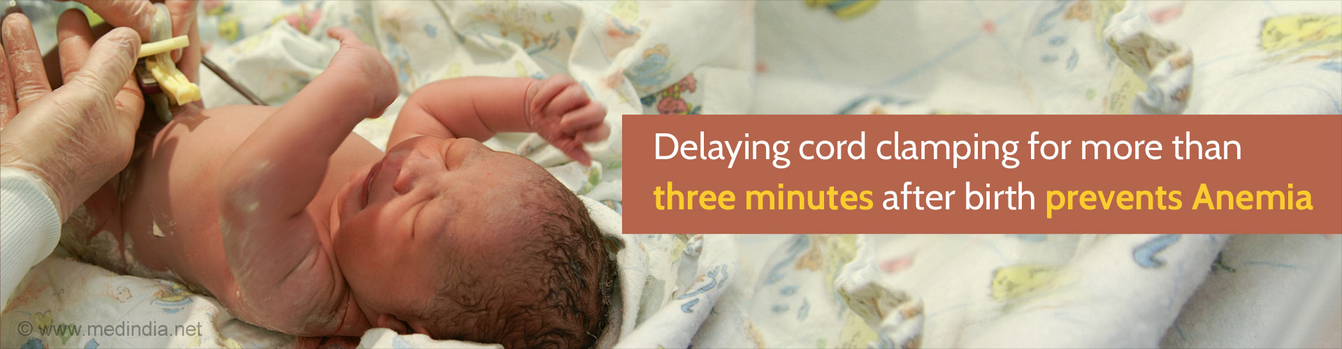 Delayed Clamping After Birth May Prevent Anemia in Children