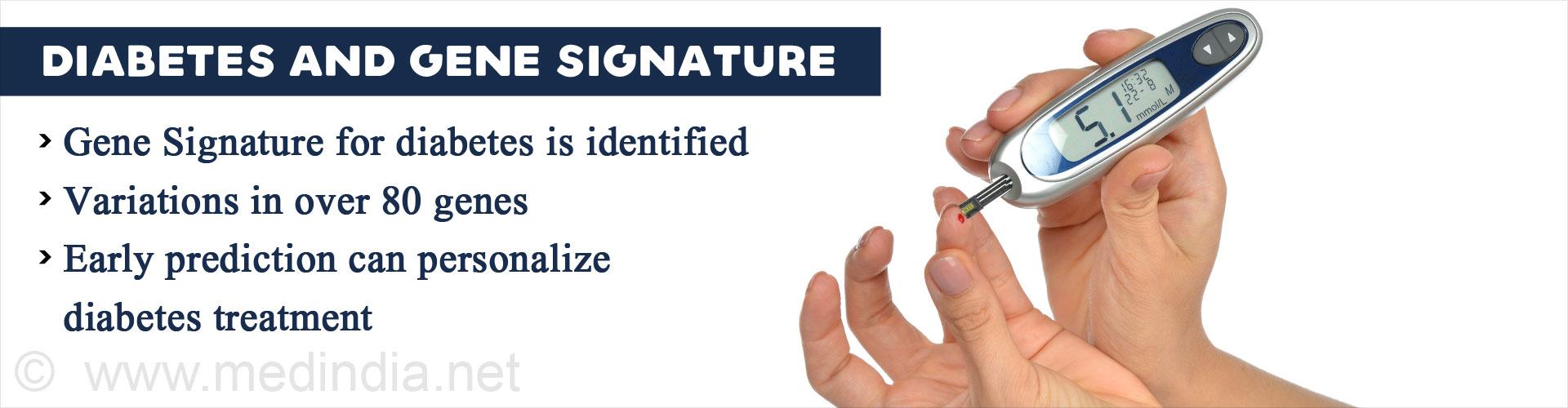 Gene Signature Identified for Diabetes Prediction