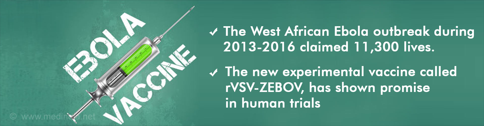 Ebola Vaccine Highly Effective in Preventing the Disease