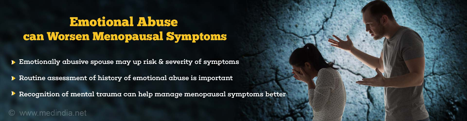Emotional Abuse Associated With Increase in Menopausal Symptoms