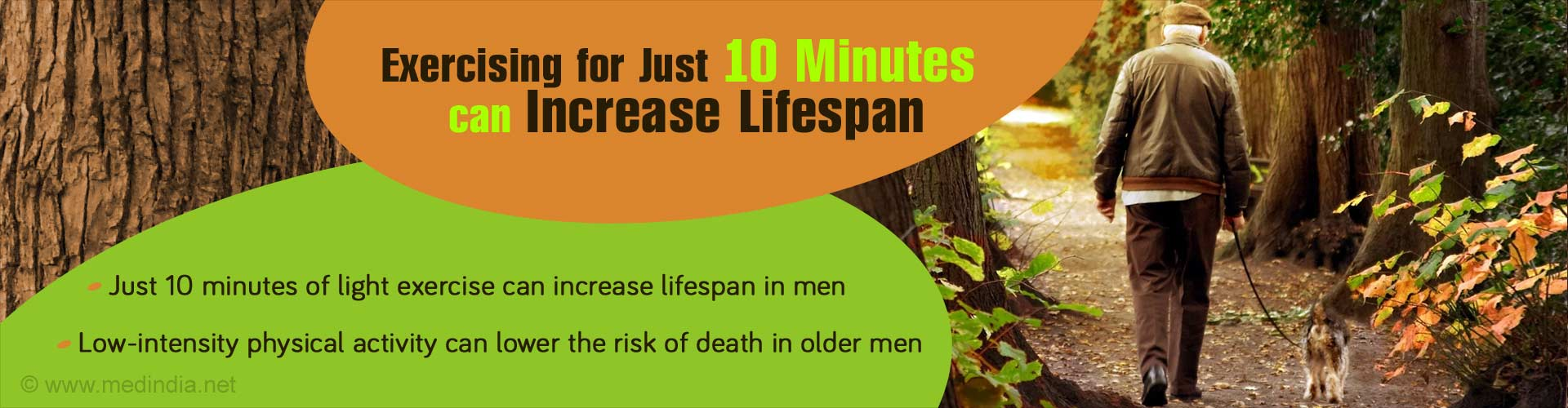 Just 10 minutes of Light Exercise can Increase Lifespan in Men