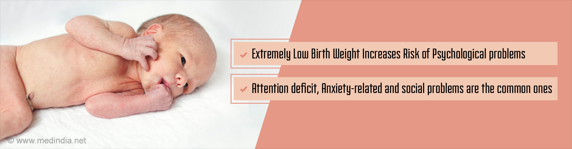 Very Low Birth Weight Increases Risk for Mental Health Problems