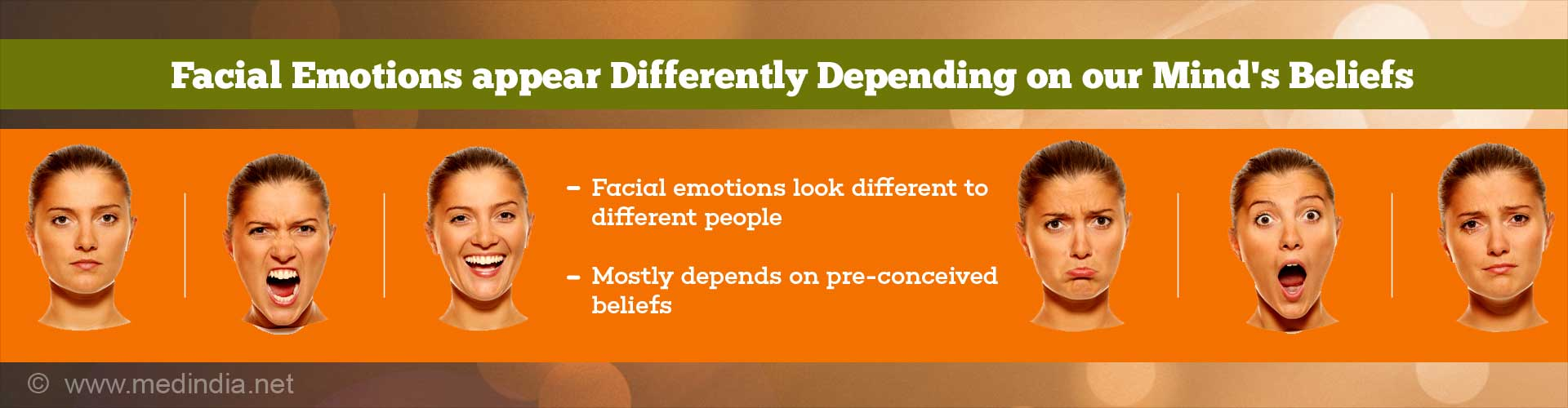 Our Mind Controls How We Interpret Emotions on Others Faces