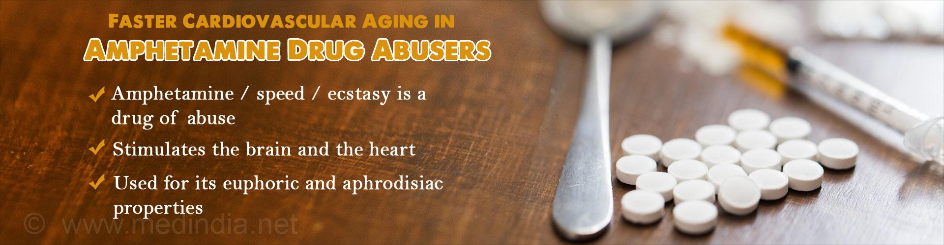 Recreational Amphetamine Accelerates Cardiovascular Aging