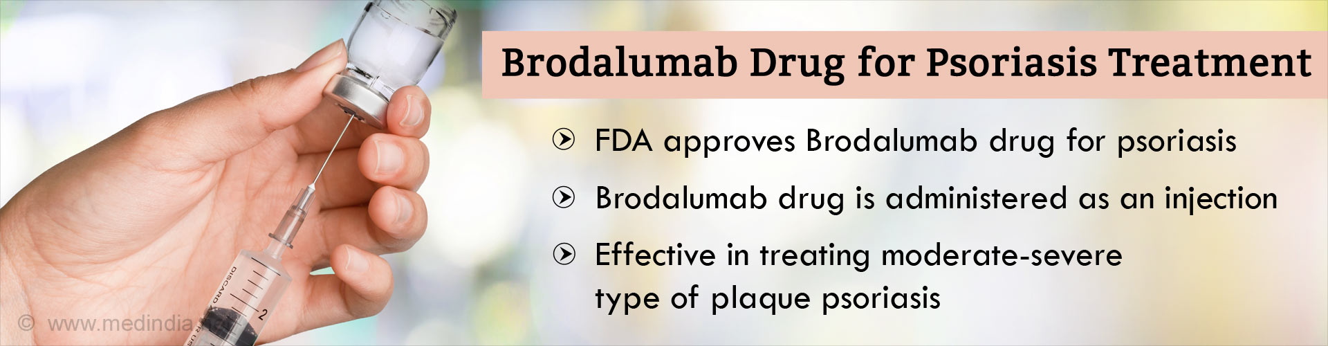 FDA Approves Brodalumab Drug for Psoriasis Treatment