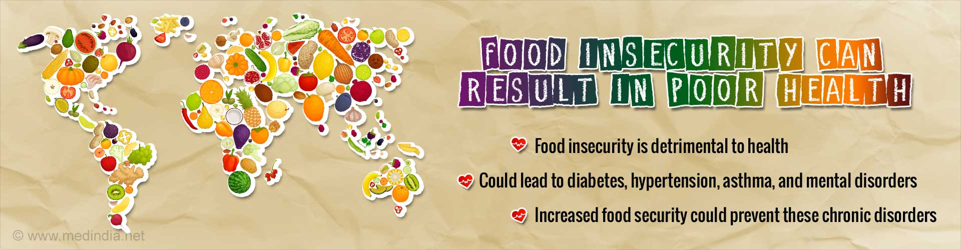 Food Insecurity Linked to Higher Risk of Asthma, Diabetes and Hypertension
