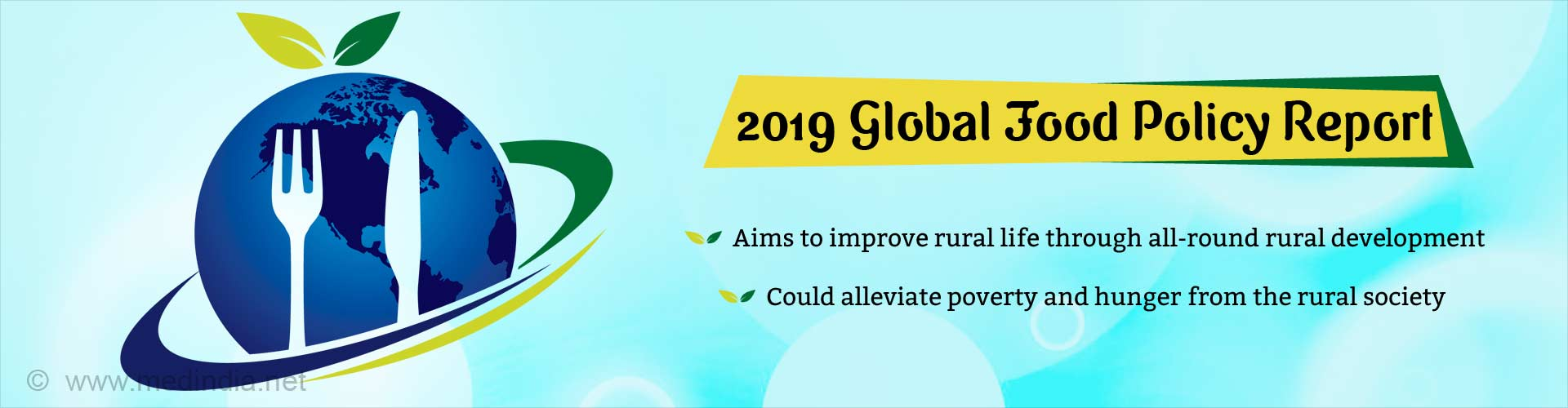Global Food Policy Report 2019: Emphasis on Improving Rural Life