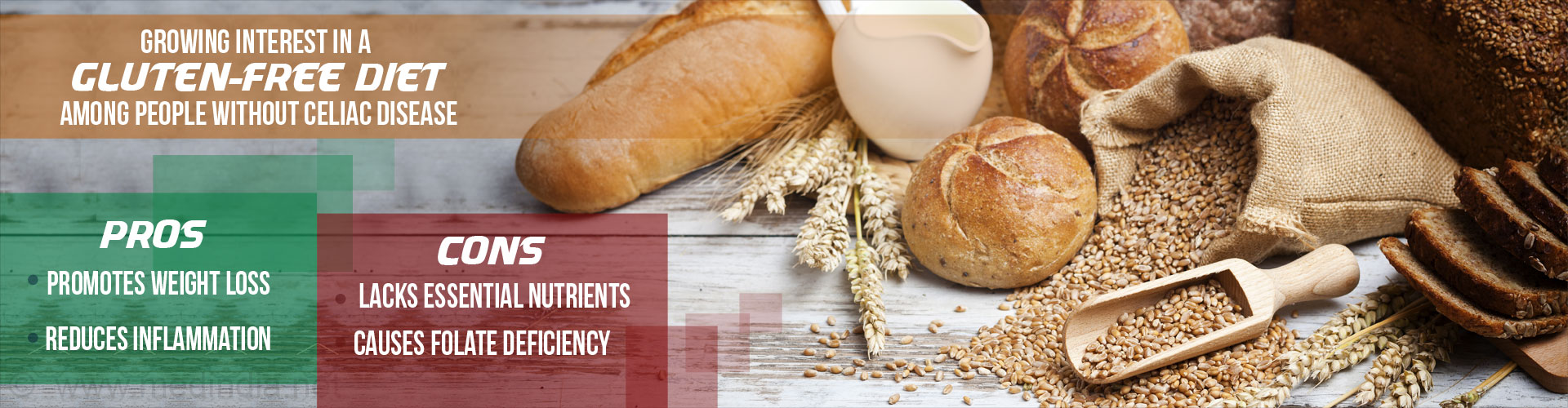 Gluten-Free Diet Followers on the Rise Among People Without Celiac Disease