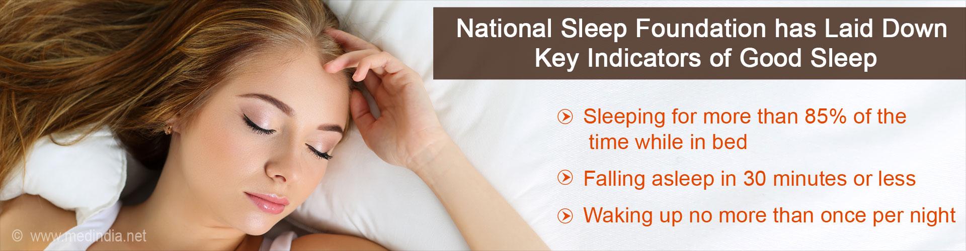 Key Indicators of Good Sleep Released by National Sleep Foundation