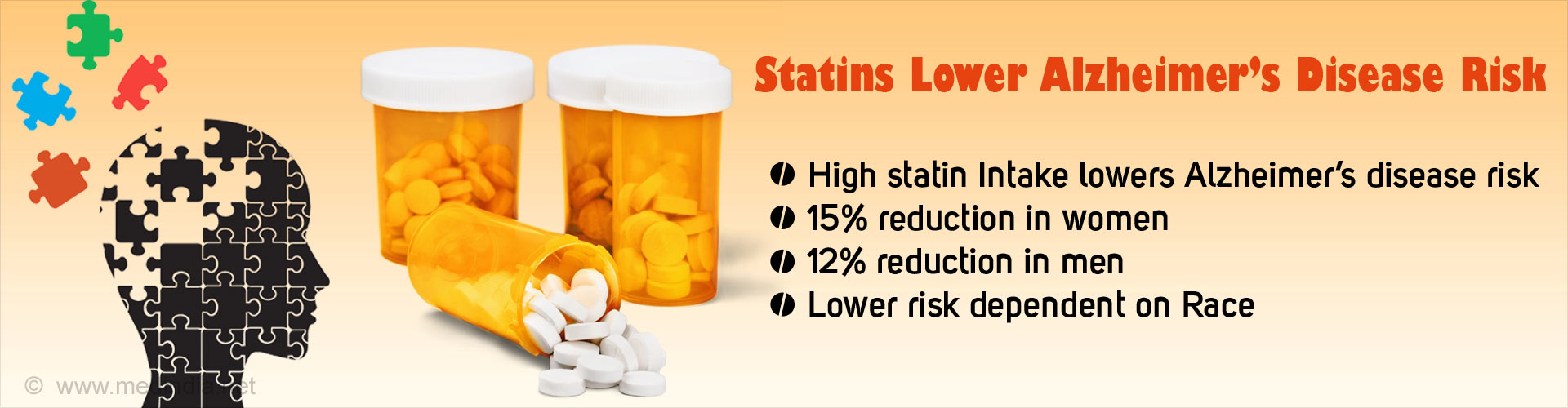 Statins Lower Risk for Alzheimer's Disease