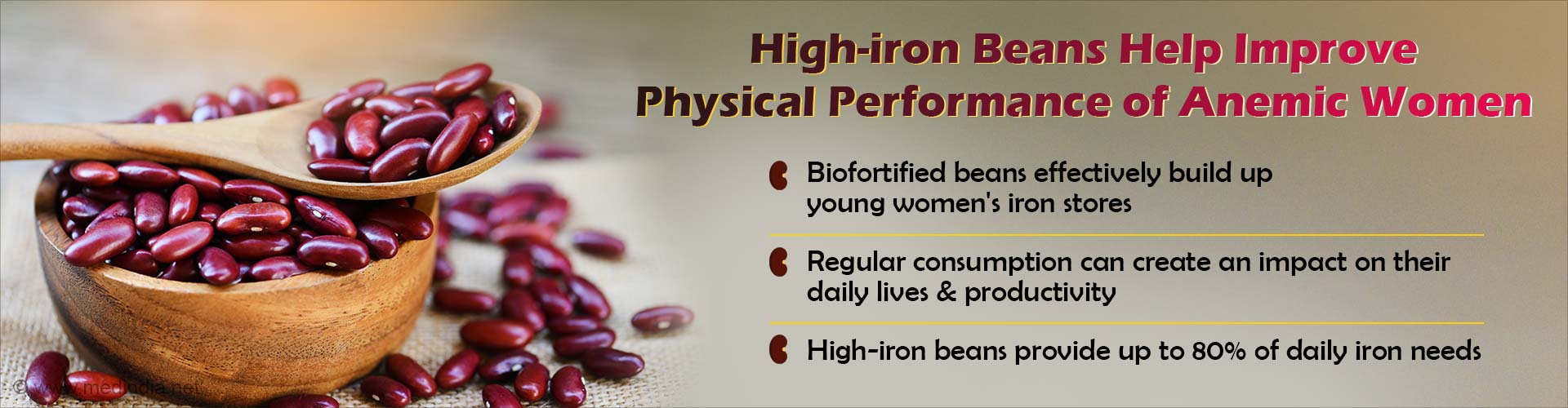 Iron-Biofortified Beans Improve Health of Anemic Women