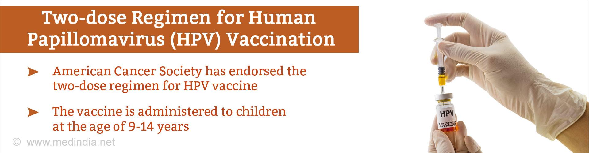Endorsing Two-Dose Regimen for Human Papillomavirus (HPV) Vaccination