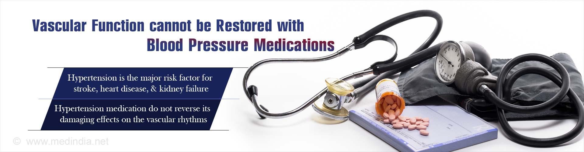 Hypertension Medications Do Not Restore Vascular Function