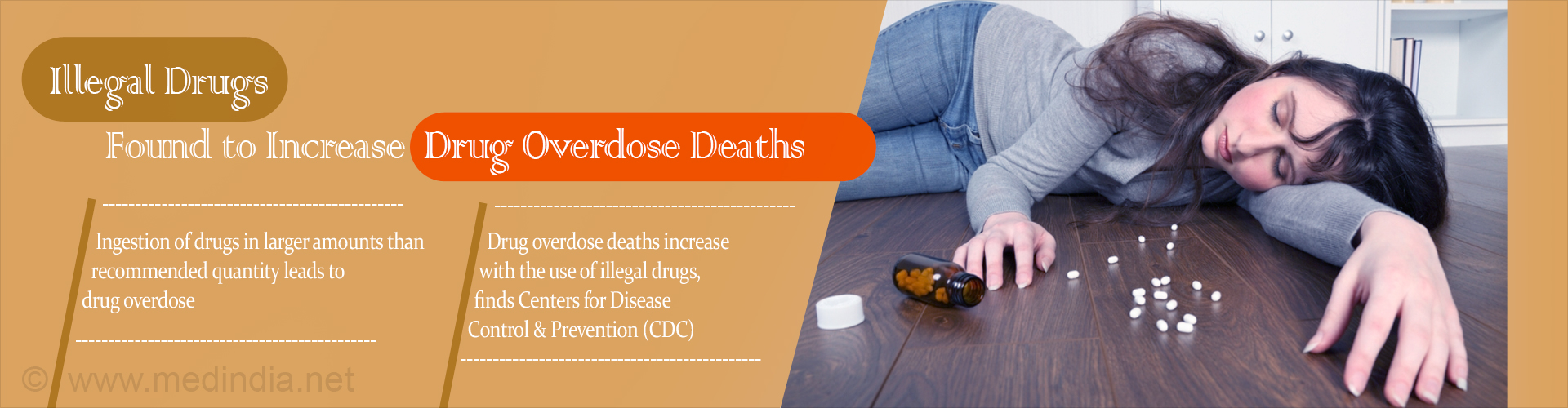 Drug Overdose Deaths Increase Due to the Use of Illegal Drugs