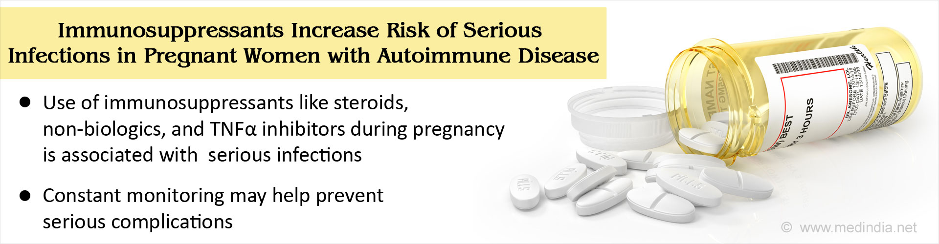Immunosuppressive Agents Increase Infection Risk in Pregnant Women With Inflammatory Conditions