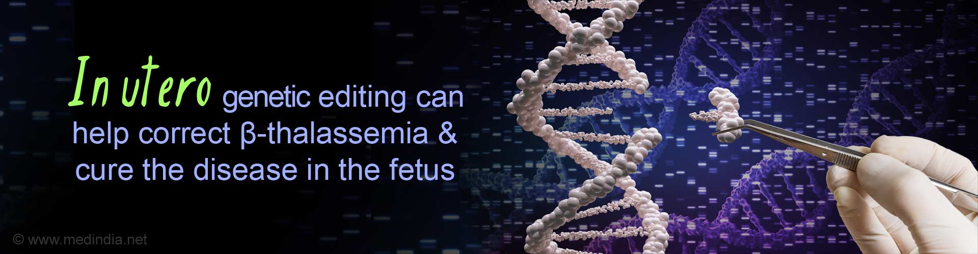 <I>In Vivo</I> Gene Editing Cures Blood Disorders in Fetus