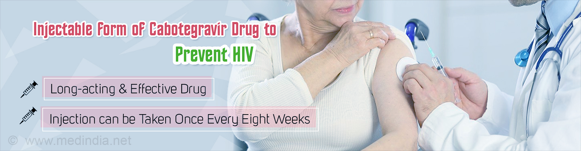 New Injectable Form of Cabotegravir Drug To Prevent HIV
