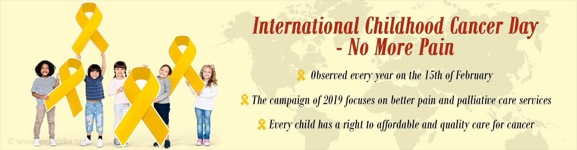 International Childhood Cancer Day - Even One Child's Death Is Not Acceptable