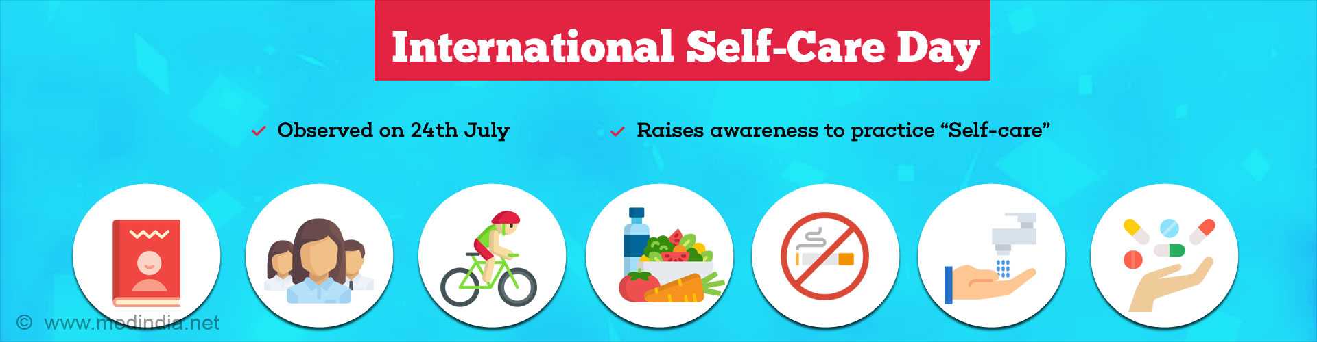 International Self-Care Day is 24 July - 'Feel Good, 7/24'