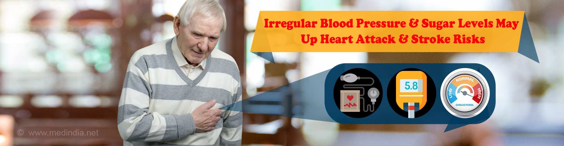 Heart Attack,Stroke Risk Increases With Irregular Blood Pressure, Blood Sugar