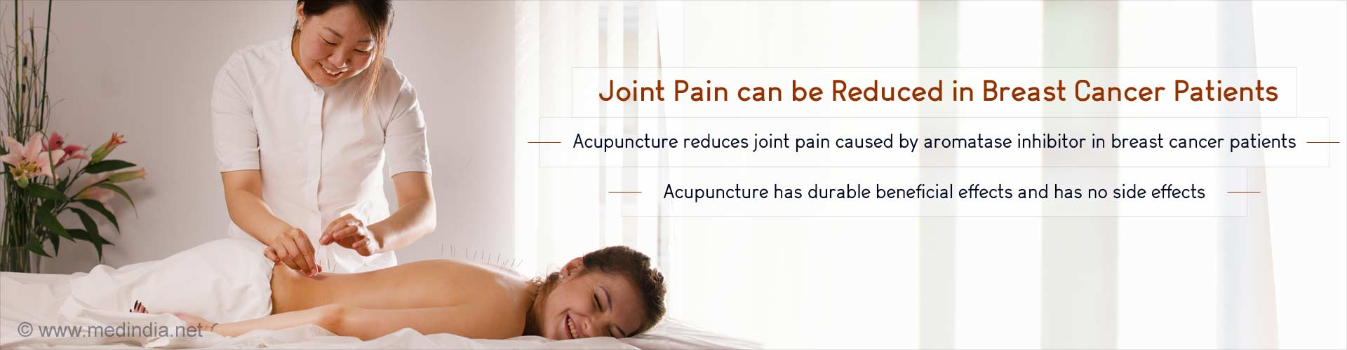 Acupuncture can Reduce Joint Pain in Breast Cancer Patients