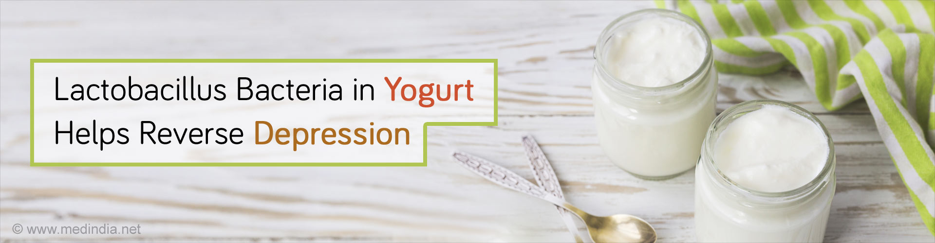 Bacteria in Yogurt May Reverse Depression