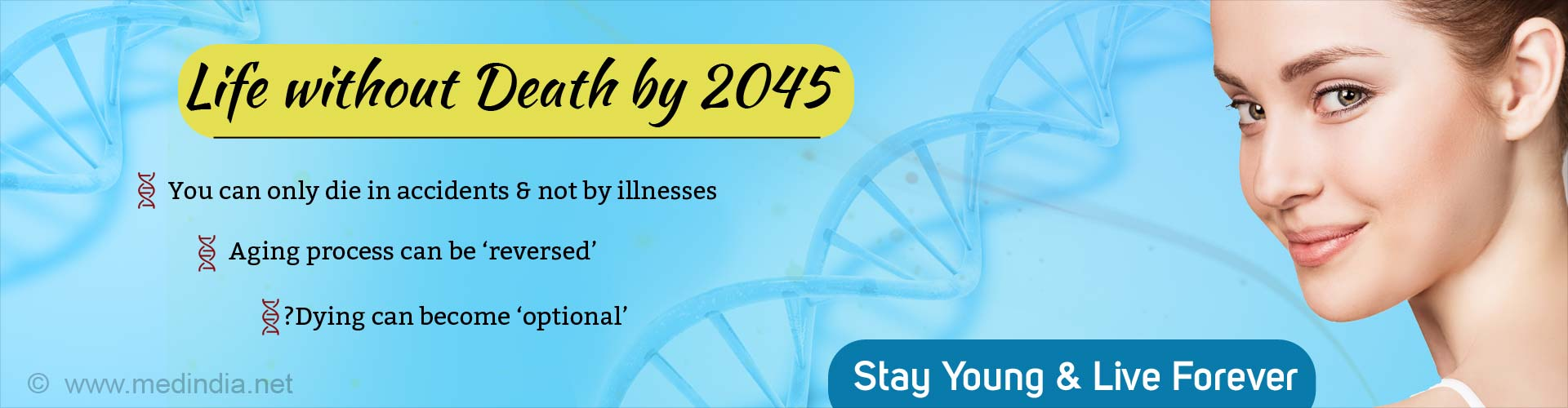 Life Without Death and Aging by 2045