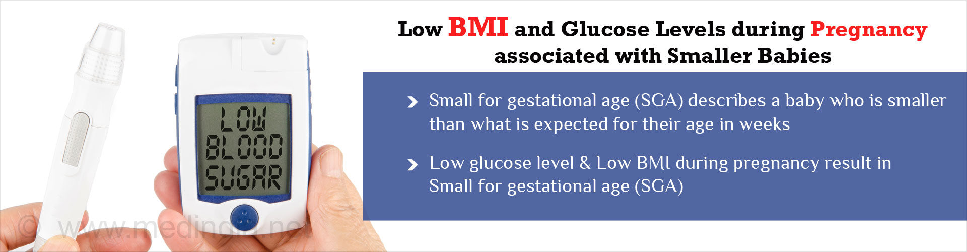 Low Glucose Levels in Underweight Pregnant Japanese Women Associated With Smaller Babies