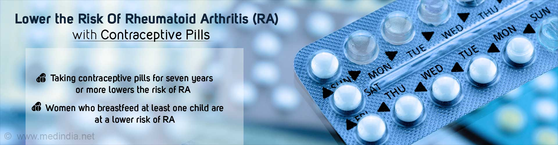 Contraceptive Pills Lower The Risk Of Rheumatoid Arthritis