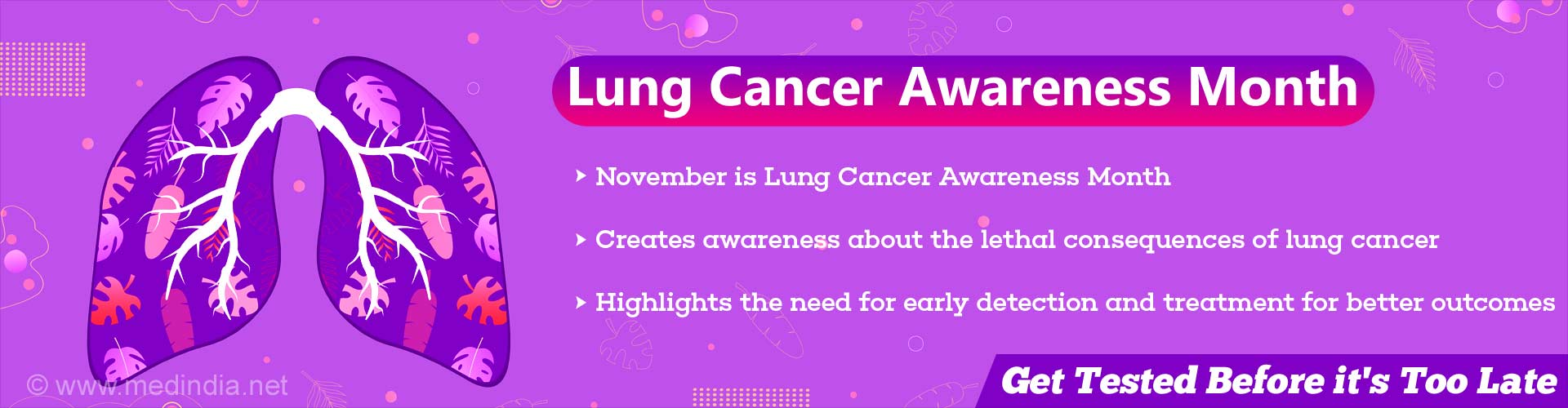 Lung Cancer Awareness Month: Be Aware – Better to be Safe Than Sorry!