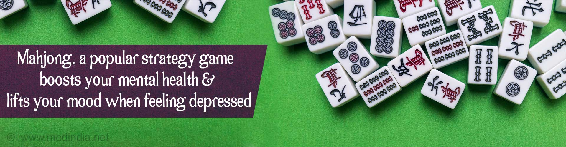Playing Mahjong can Help You Cope with Depression