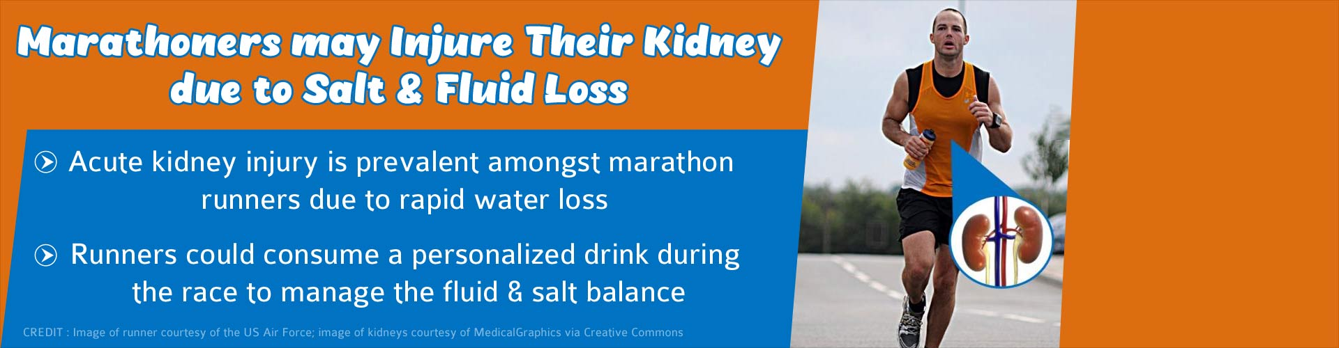 Kidney Injury Due to Salt and Fluid Loss in Marathoners Is Quite Common