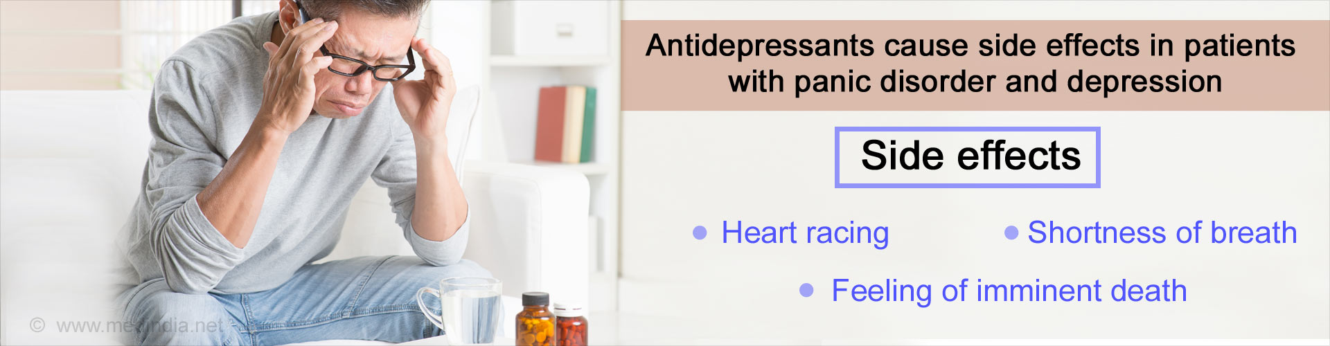 Antidepressant Side Effects Higher In People With Panic Disorder