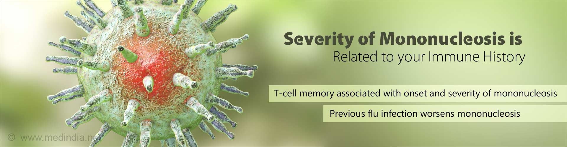 T-cell MMemory and Receptors DDetermine SSeverity of Mononucleosis (Kissing Disease)